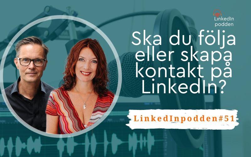 följa kontakt LinkedIn
