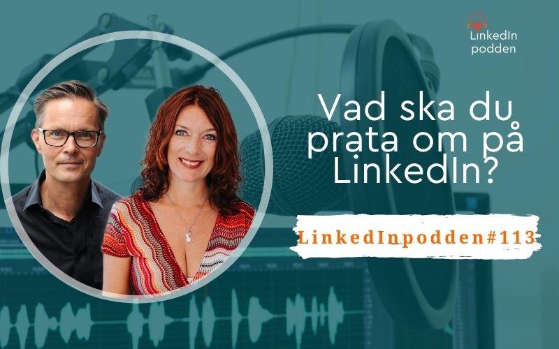 prata om LinkedIn
